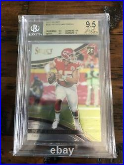 2017 Patrick Mahomes Select Rc Field Level Rookie Card Bgs 9.5 Gem Mint