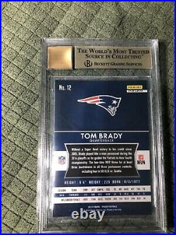 2018 Honors Recollection 2015 Prizm Silver Tom Brady (9.5). On Card Auto(10) 3/5