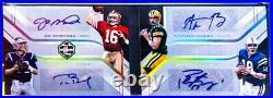 2018 Limited Auto Brady, Montana, Rodgers, Manning /3. Very Rare