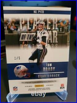 2018 Optic Contenders Tom Brady Auto POY #1/5 GOAT Patriots