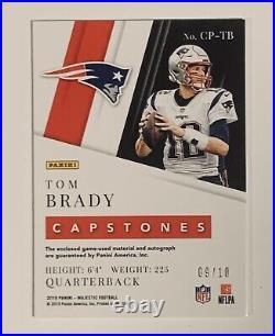 2019 Majestic Capstone TOM BRADY 4 Relic On Card Auto # 9/10-7 Bowls=GOAT-READ