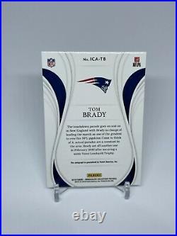 2019 Panini Immaculate Tom Brady Tb 12 Patriots Auto Ica-tb 4/5 Autograph Card