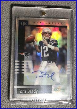 2020 Chronicles 2003 Tom Brady Score Tribute Autograph 1/1 Patriots