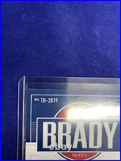 2020 Chronicles Tom Brady TB-2019 Score Tribute 1/1 Silver Prizm Holo Auto Pats