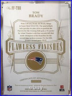2020 Flawless Tom Brady Auto & Inscription Patriots Flawless Finishes 2/3! SSP