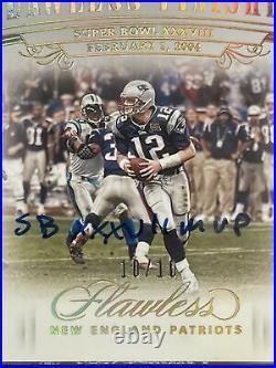 2020 Flawless Tom Brady Super Bowl MVP Inscription Auto Patriots #10/10 SSP