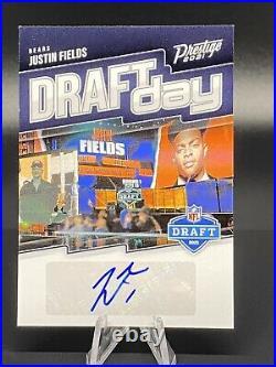 2021 Panini Prestige Justin Fields Draft Day Auto Rc Rookie Card