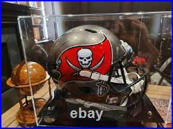 Autographed/Signed TOM BRADY SB LV Buccaneers Full Size Helmet COA/LOA w Case