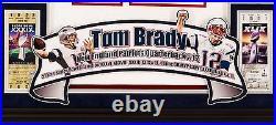 Framed Tom Brady jersey signed Tristar cert Nike jersey Deluxe NFL Patriots auto