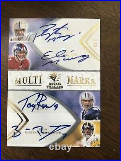 Multi Marks SP Auto Card Aaron Rodgers Tom Brady Peyton Manning Autograph