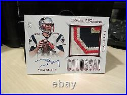 National Treasures Colossal On Card Autograph Jersey Patriots Tom Brady 2/5 2015