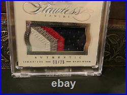 Panini Flawless On Card Autograph Jersey Patriots Auto Tom Brady 01/25 2014