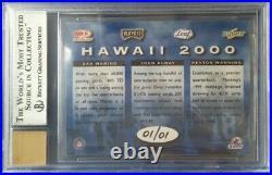 Peyton Manning / Marino / Elway True 1/1 On-Card Autograph Tom Brady Rookie Year