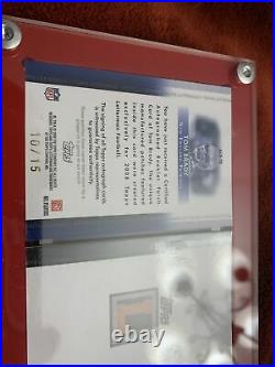 RARE TOM BRADY 2008 TOPPS LETTERMAN AUTO BOOKLET PATCH REFRACTOR To 15 PATRIOTS