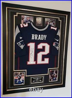 Rare TOM BRADY Signed Shirt AUTOGRAPHED JERSEY Autograph NFL DISPLAY