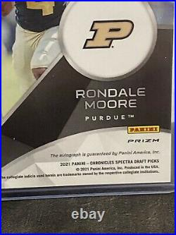 Rondale Moore spectra gold rookie on card auto 3/3
