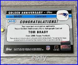 TOM BRADY 2005 Topps Golden Anniversary AUTOGRAPH FULL GOAT AUTO SP MVP SB