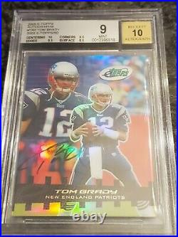 TOM BRADY AUTO 2005 E Topps /50 On Card BGS 9 With 10 Autograph. 5 From Gem etopps