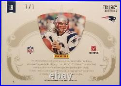 Tom Brady 1/1 Signature Shield NFL Patch, 2010 National Treasures 1of1 Autograph
