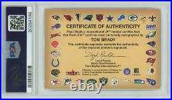 Tom Brady 2000 Fleer Autographics RC Rookie Signed AUTO. PSA 7