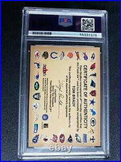Tom Brady 2000 Fleer Autographics Rookie Auto PSA 7 Graded Authentic Auto