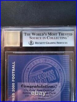 Tom Brady 2000 PRESS PASS CERTIFIED AUTOGRAPH RC Auto BGS 8.5 10 AUTO #3