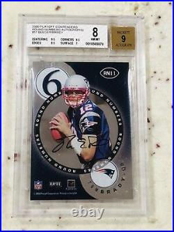 Tom Brady 2000 Playoff Contenders Round Numbers 8 8.5 9.5 Auto SSP #RN11