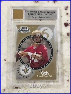 Tom Brady 2000 Playoff Contenders Round Numbers Autograph SSP #RN11 9 9.5 10