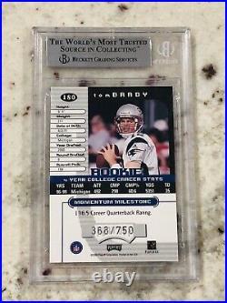Tom Brady 2000 Playoff Momentum #180 Super Short Print Rare BGS Mint 9 9.5