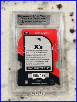 Tom Brady 2000 Playoff Momentum Xs 9 9.5 Centering #180 Short Print SSP/199