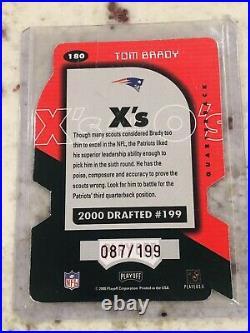 Tom Brady 2000 Playoff Momentum Xs Centering #180 Short Print SSP/199 (RAW)