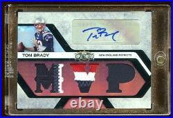 Tom Brady 2008 Triple Patches Logo Auto #d 3/4 Autograph 6x Sb Champs Tampa Qb