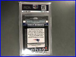 Tom Brady 2009 Topps Finest Moments Auto Autograph Red Refractor #3/5 PSA 9