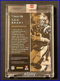 Tom Brady 2015 Panini Black Gold Auto Jersey Autograph Card Patriots 9/10
