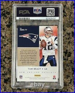 Tom Brady 2018 Panini One RARE ON CARD AUTO Autograph PSA 9 Pop 1 None Higher