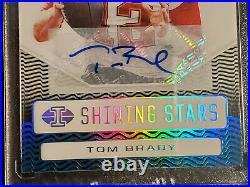 Tom Brady 2020 Panini Illusions Shining Stars #2/5 Extremly Rare Buccaneers AUTO