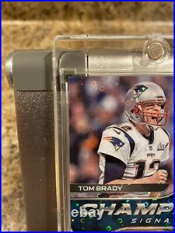 Tom Brady 2020 Spectra SB LIII 53 Champion Signatures Auto Patriots 5/5 1/1