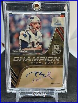 Tom Brady 2020 Spectra SB LIII 53 Champion Signatures Auto Patriots True #1/1