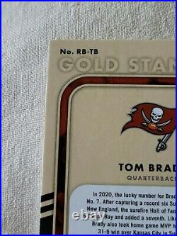 Tom Brady 2021 Gold Standard Auto #1/5! The Goat And One Of A Kind! Ring Bearer
