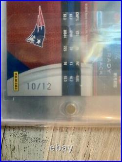 Tom Brady AUTO 2010 New England Patriots Panini Limited Monikers SP /12 GOAT