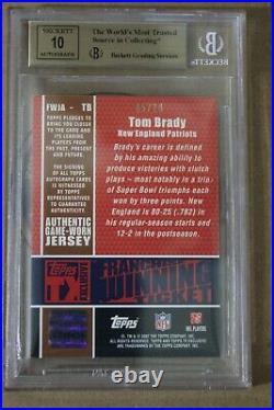 Tom Brady AUTO PATCH TOPPS 2007 not Bowman Rookie RC chrome 2000 /10 BGS9.5