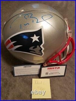 Tom Brady Authentic Signed Patriots Helmet Coa Steiner & Tristar Beautiful
