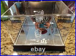 Tom Brady Autographed Superbowl 51 Football, Display Case, & Game Placard
