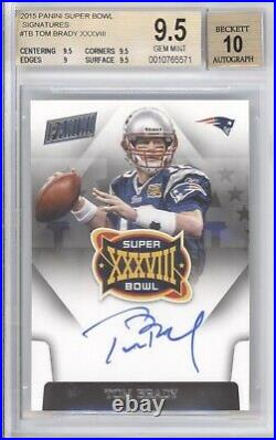Tom Brady Bgs 9.5 2015 Panini Super Bowl Signatures #tb Auto Autograph Pats 5571