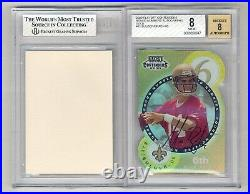Tom Brady & Bulger 2000 Contenders Round Numbers Gold Auto Rc #18/60 Bgs 8