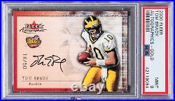 Tom Brady Fleer Autographics Gold 2000 PSA 9-Rarer Than Playoff Contender Ticket