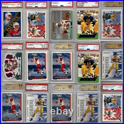 Tom Brady Graded Rookie 55 Card LOT 2000 RC BGS & PSA 9 9.5 10 AUTO Signed GOAT