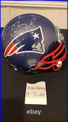 Tom Brady Hydro Dipped Authentic Autographed Helmet