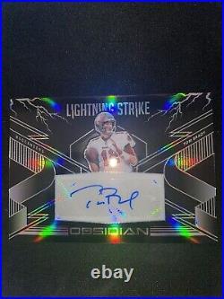Tom Brady Lightning Strike 6/10 Auto Obsidian 2020