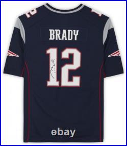 Tom Brady New England Patriots Autographed Navy Nike Game Jersey